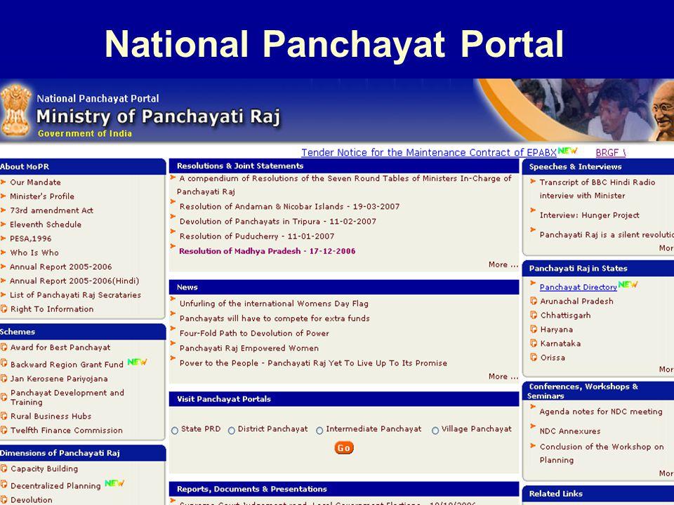 4/23/201516 National Panchayat Portal