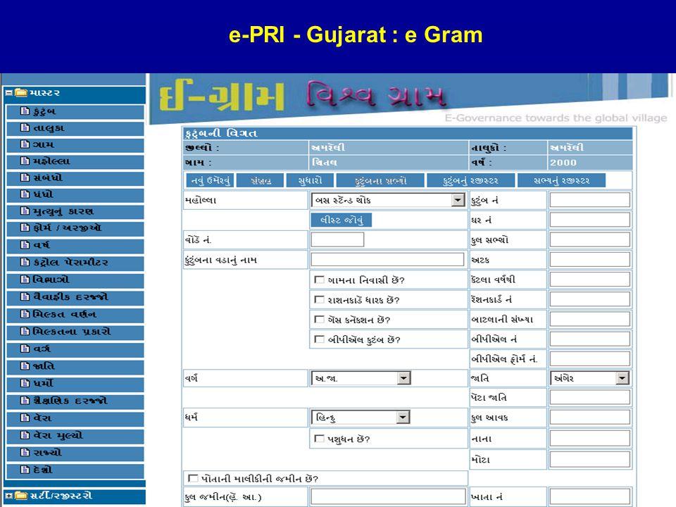 4/23/201518 e-PRI - Gujarat : e Gram