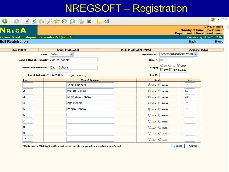 4/23/20157 NREGSOFT – Registration