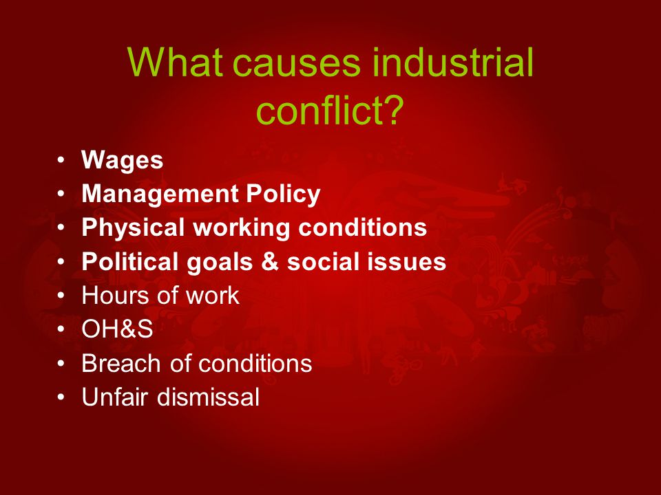 Costs and benefits of industrial action Financial Costs Personal Costs Social Costs Political Costs International costs