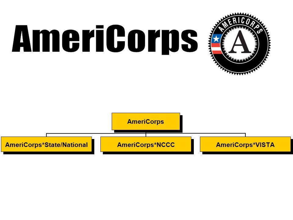 AmeriCorps AmeriCorps*State/NationalAmeriCorps*NCCCAmeriCorps*VISTA