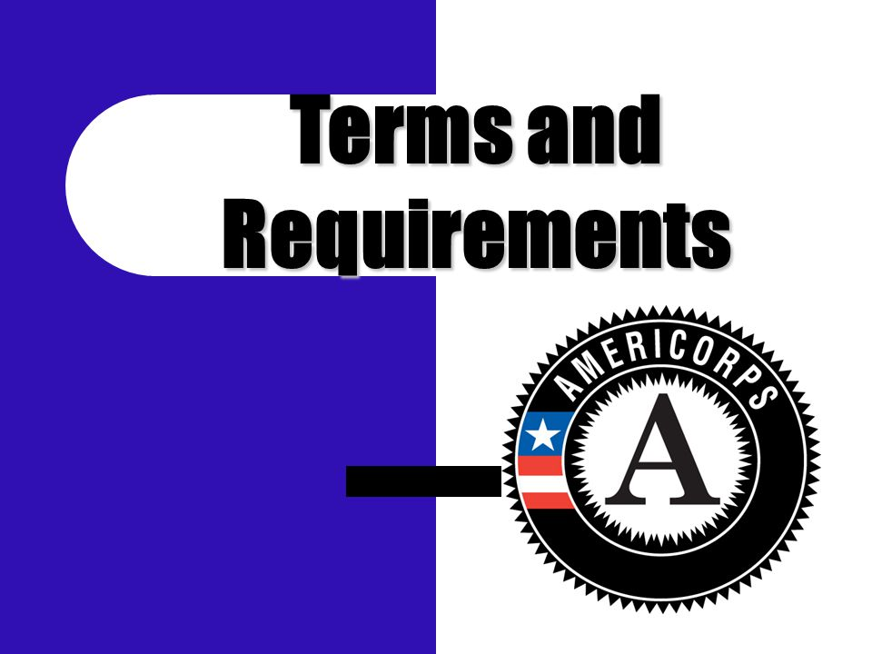 Terms and Requirements