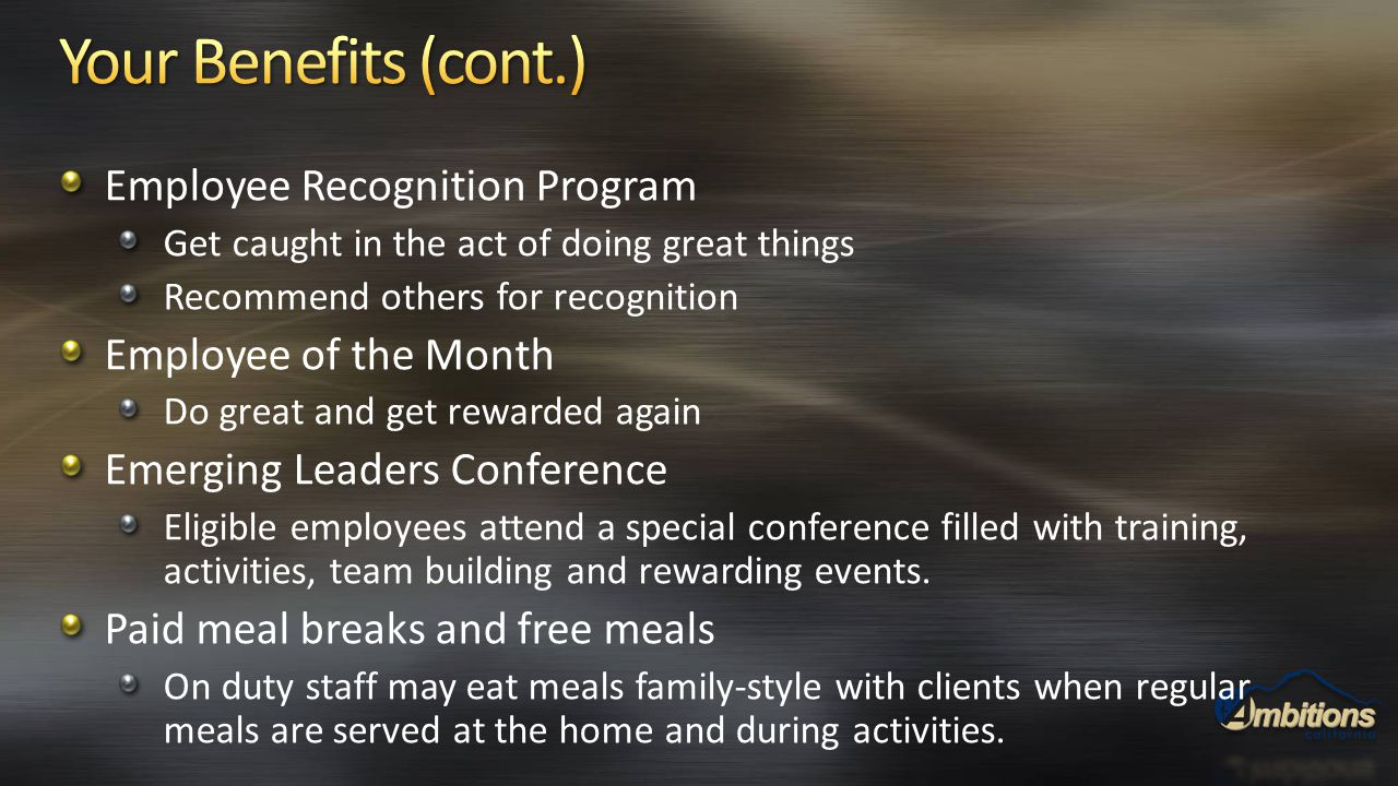Employee Recognition Program Get caught in the act of doing great things Recommend others for recognition Employee of the Month Do great and get rewar