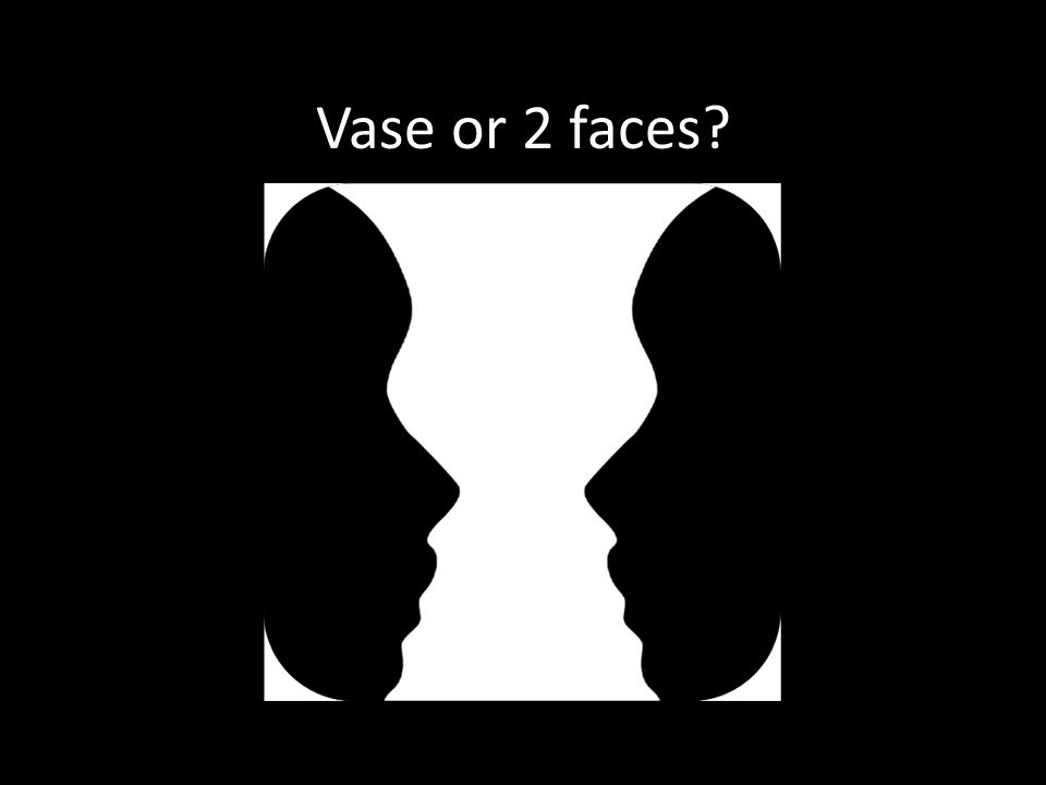 Vase or 2 faces?