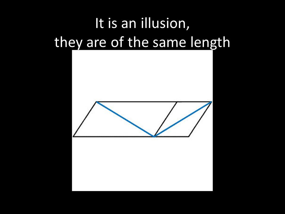 It is an illusion, they are of the same length