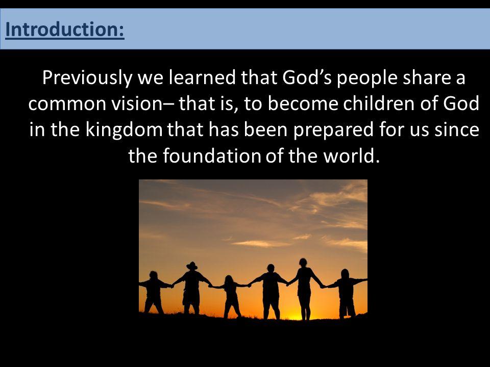 Matthew 25:34.