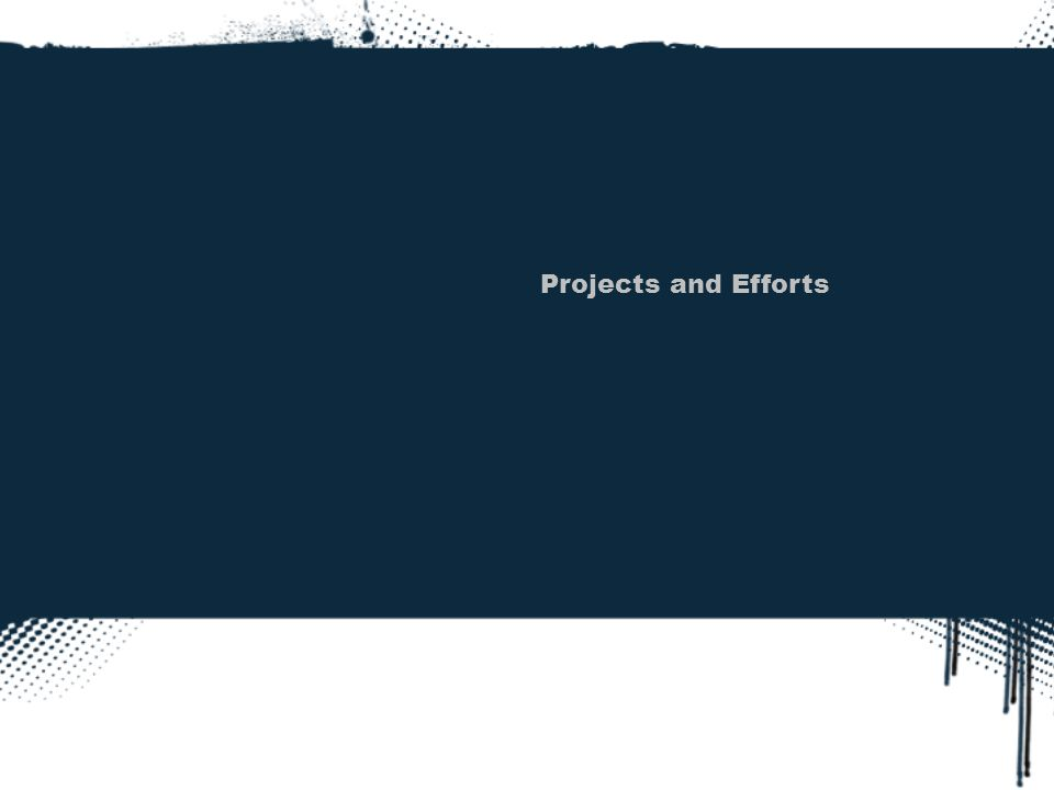 Projects and Efforts