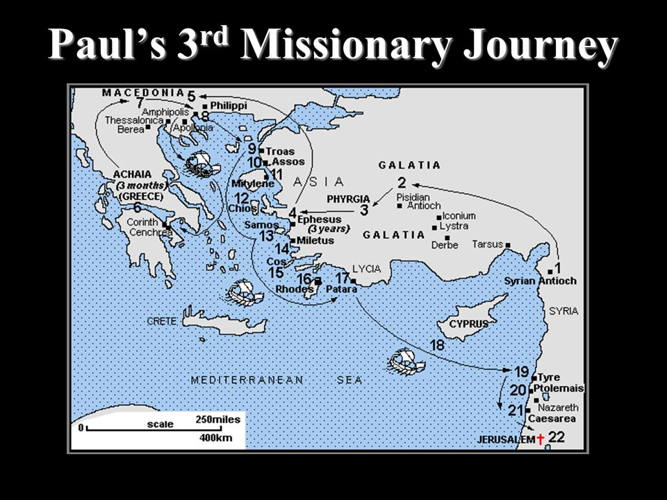 Paul's 3 rd Missionary Journey