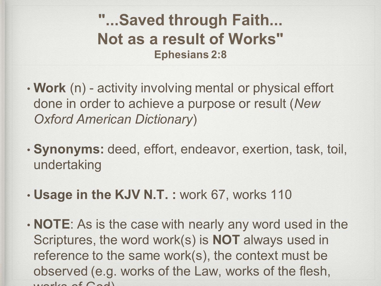 ...Saved through Faith...