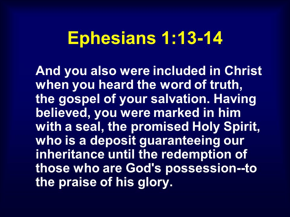 II.THE HOLY SPIRIT IS OUR DEPOSIT GUARANTEEING (v.