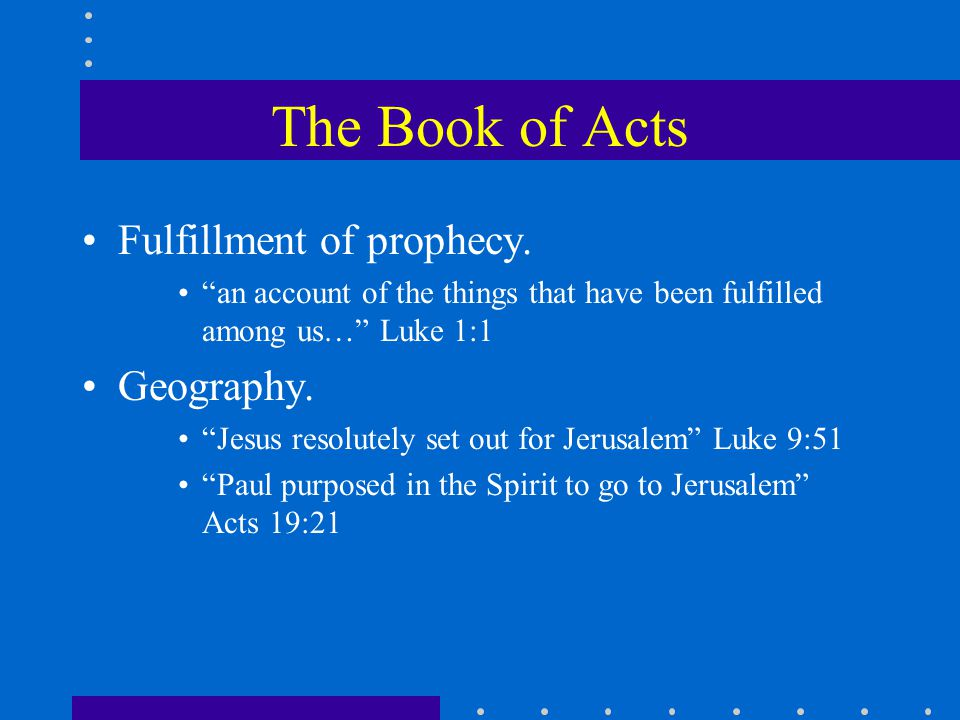 Fulfillment of prophecy.