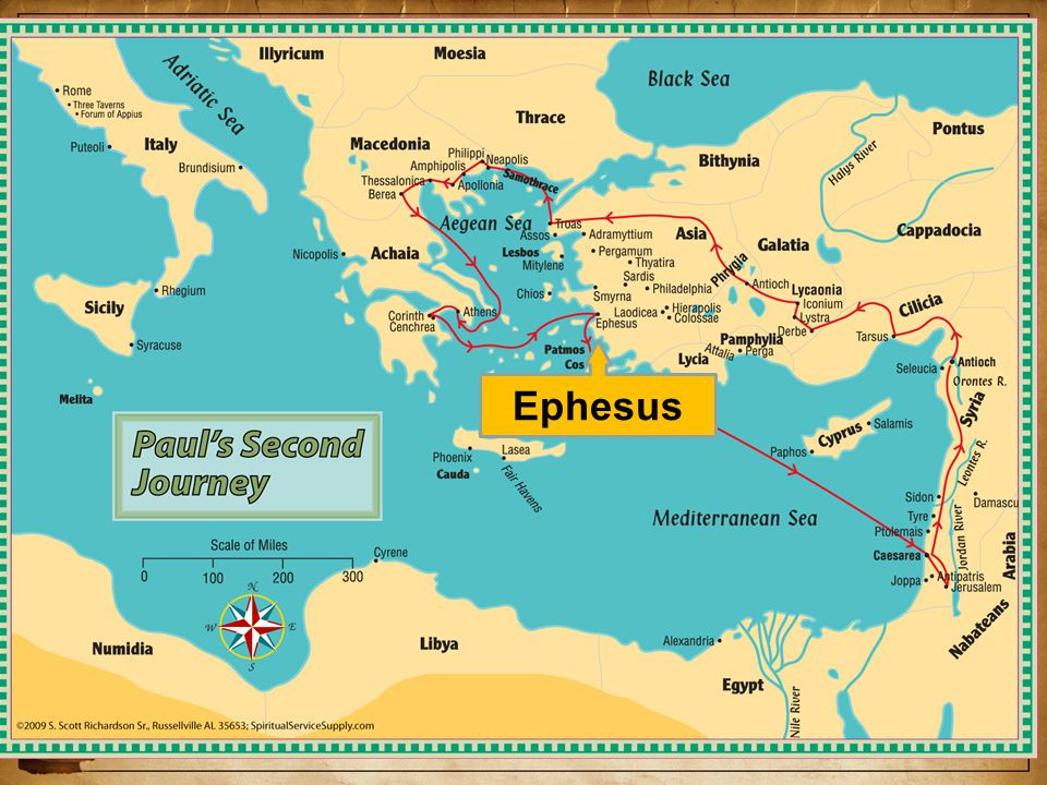 The Church at Ephesus As he leaves for Jerusalem, Aquilla and Priscilla stay – Acts 18:24-19:1 Acts 19:1-41, During 3rd preaching trip he stays there 3 years (Ac.