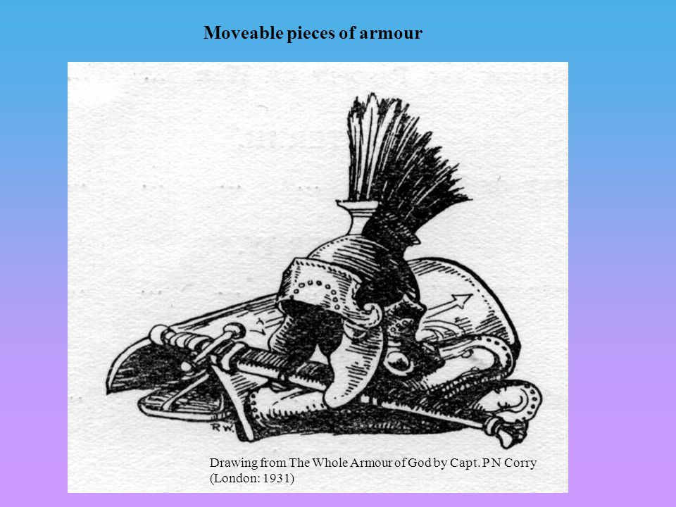 Moveable pieces of armour Drawing from The Whole Armour of God by Capt. P N Corry (London: 1931)