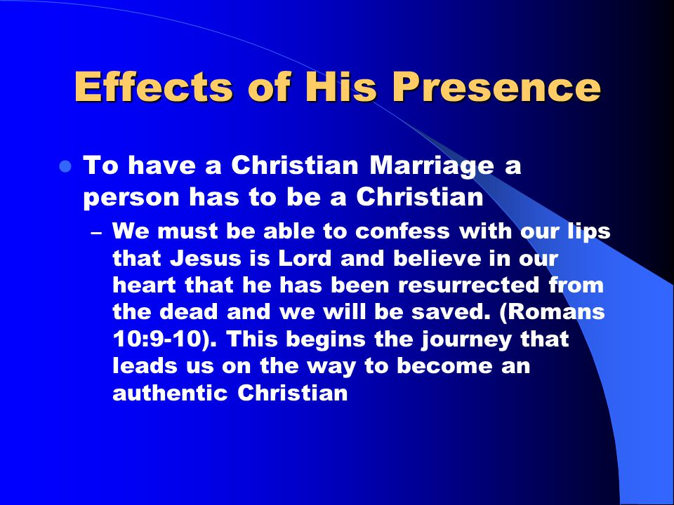 The Holy Spirit and Life I do not need to tell you that the main difference between Christianity and all other religions is that Christ lives in us. P