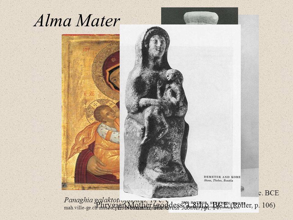 Alma Mater Neohittite from Karatepe, 8 th c. BCE From: E. Akurgal, Ancient Civilizations and Ruins of Turkey, pl. 105 Panaghia galaktotrophousa, 14 c.