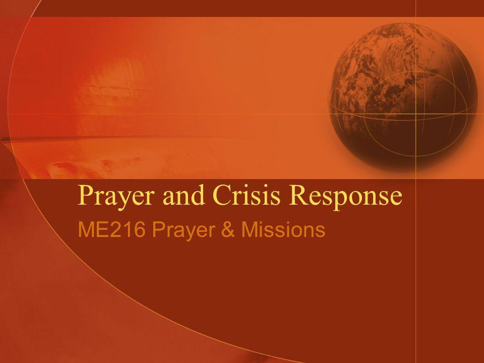 Crisis Response and Prayer.