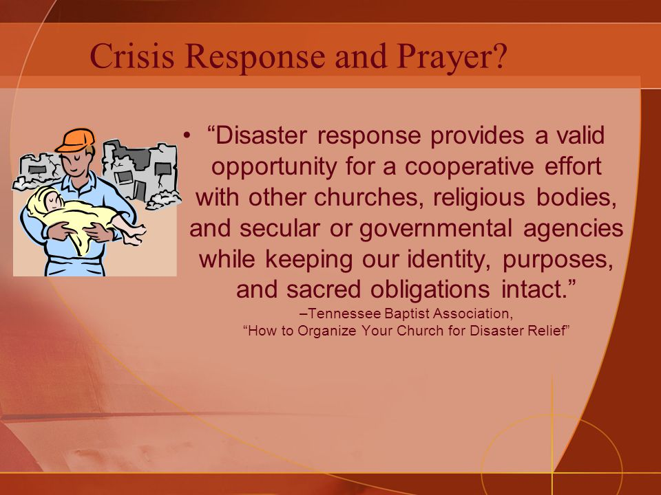 Prayer Coordinator –Spiritual Correspondent Crisis Response Team Prayer Coordinator can: –See the process with eyes of the Spirit, focused on understanding the dynamics of the invisible realm –Interpret situations to identify critical points for intercession –Craft scripture-based strategic prayer points –Screen for security concerns –Maintain ongoing timely communication between intercessors and crisis response teams