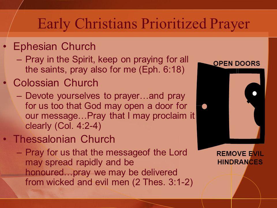 Take Prayer Seriously.