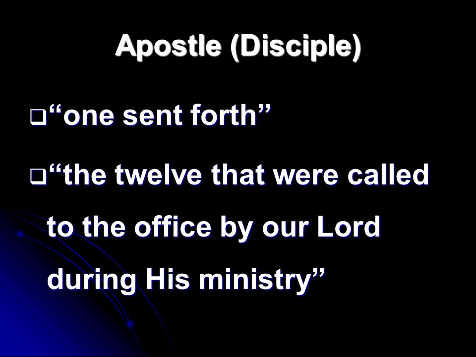 Who are the Disciples.