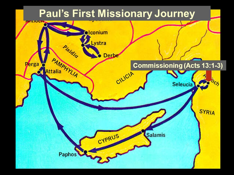 Paul's First Missionary Journey Commissioning (Acts 13:1-3)