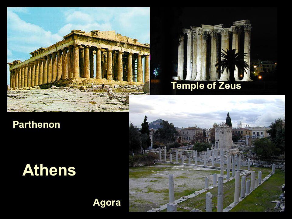 Athens Parthenon Agora Temple of Zeus