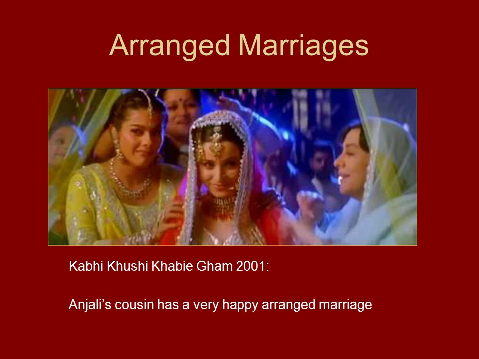 Arranged Marriages Kabhi Khushi Khabie Gham 2001: Anjali's cousin has a very happy arranged marriage