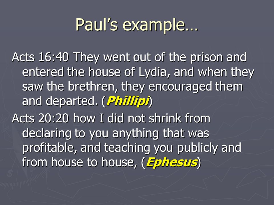 But, Not Paul's invention… Acts 1:13-14 When they had entered the city, they went up to the upper room where they were staying...
