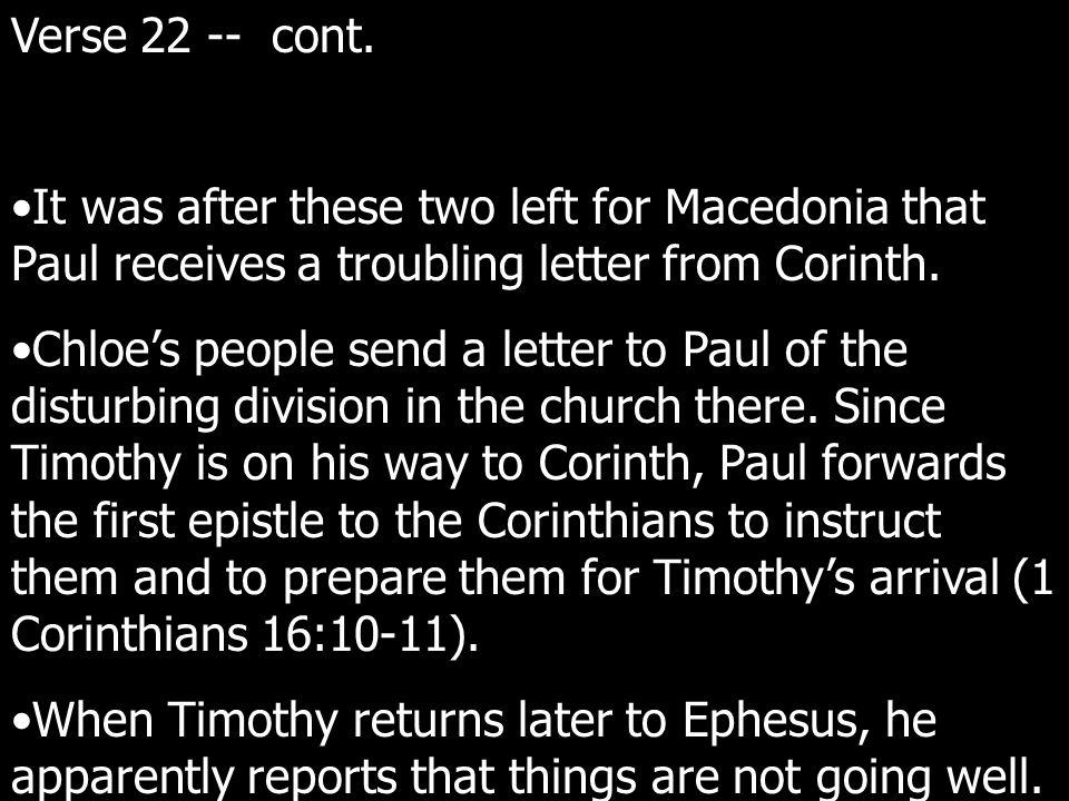 Verse 22 -- cont.
