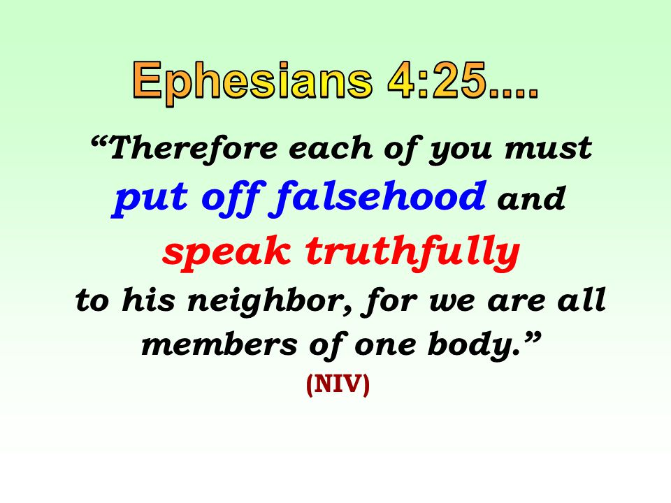 the Gospel of Truth, the quality of TRUTHFULNESS in our life with Christ, how we relate to each other in Christ Jesus.