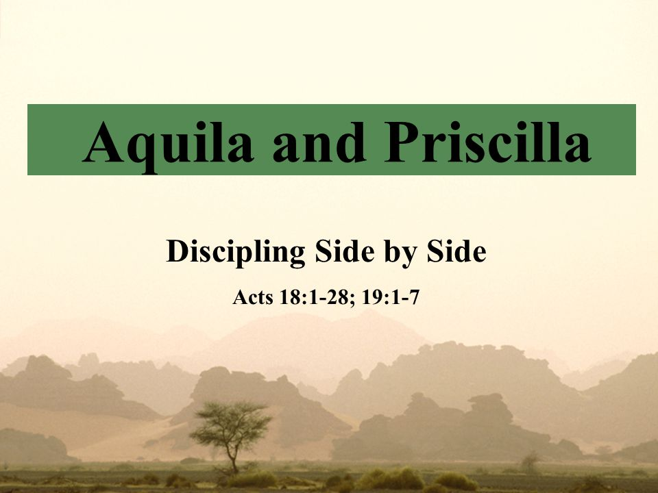Background Acts 18:1-2  52 A.D.