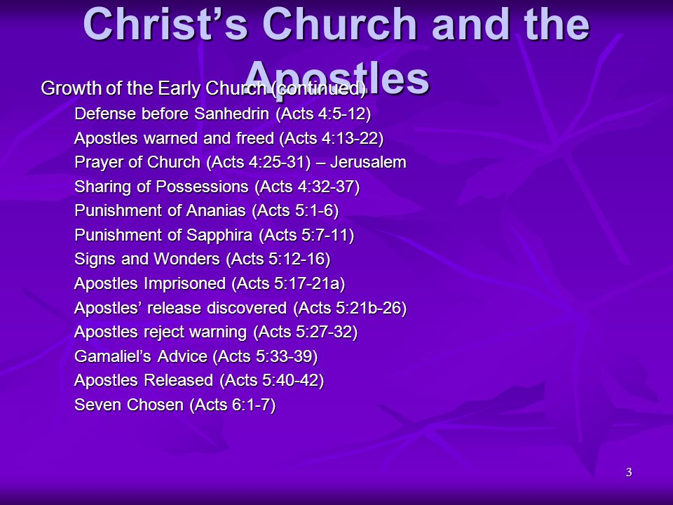 4 Christ's Church and the Apostles Martyrdom of Stephen Charges against Stephen (Acts 6:8-15) Stephen's Defense (Acts 7:1-19, 20-38, 39-53) Stephen stoned to Death (Acts 7:54-8:1a) Persecution and Preaching Church scattered (Acts 8:1b-3) Philip's Samarian ministry (Acts 8:4-8) Simon the Sorcerer (Acts 8:9-13) Prayer for Holy Spirit (Acts 8:14-17) Simon rebuked by Peter (Acts 8:18-24) Return to Jerusalem (Acts 8:25) Philip teaches Ethiopian (Acts 8:26-35) – Road to Gaza Ethiopian baptized (Acts 8:36-39) Philip continues preaching (Acts 8:40) – Caesarea
