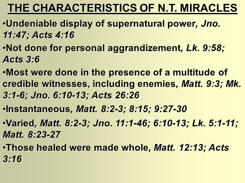 MIRACLES I.WHAT IS MEANT BY THE WORD MIRACLE . II.
