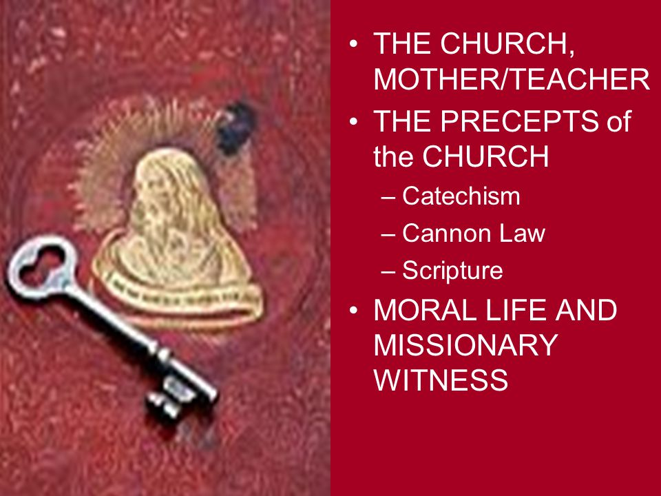 MORAL LIFE AND MISSIONARY WITNESS Because they are members of the Body whose Head is Christ, Christians contribute to building up the Church by the constancy of their convictions and their moral lives.