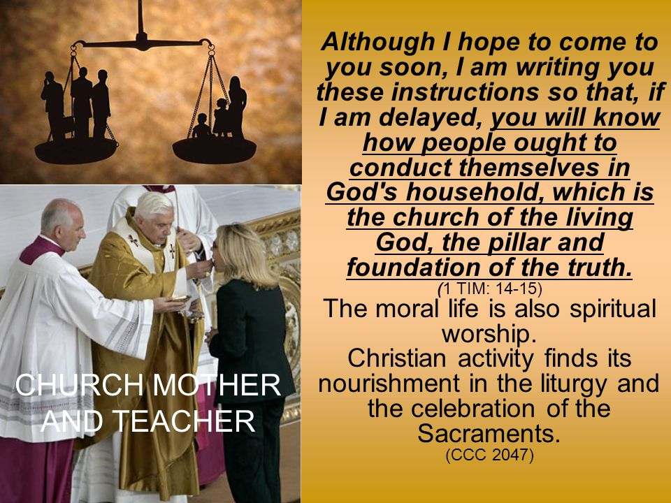 The precepts of the Church are set in the context of a moral life bound to and nourished by liturgical life.