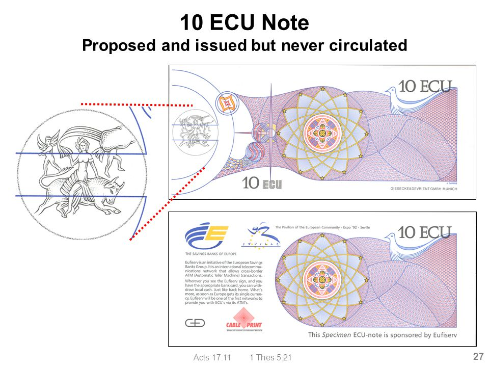 Acts 17:11 1 Thes 5:21 27 10 ECU Note Proposed and issued but never circulated