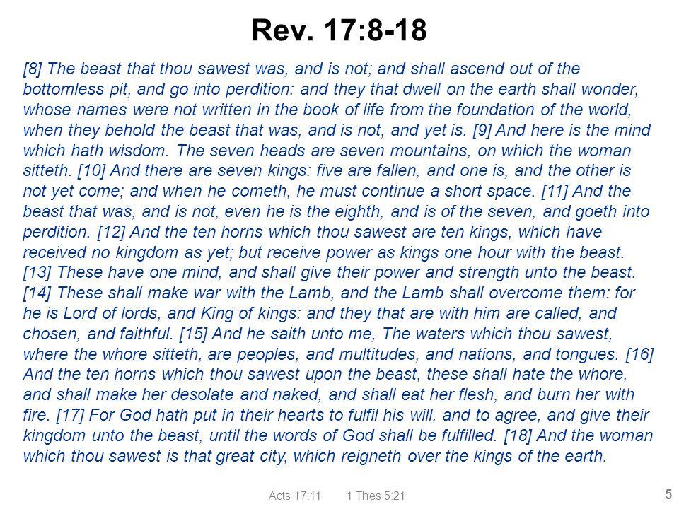 Acts 17:11 1 Thes 5:21 16 Metro Babylon