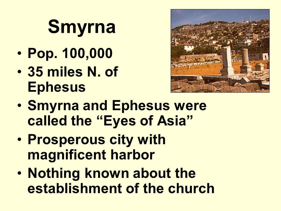 Smyrna Pop.100,000 35 miles N.