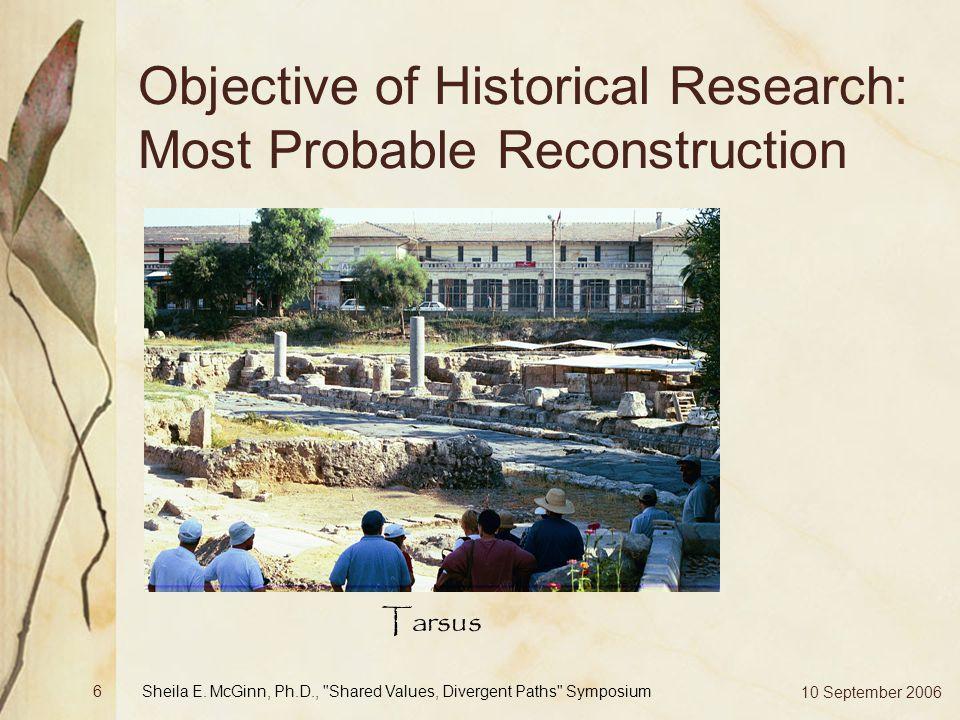 10 September 2006 Sheila E. McGinn, Ph.D.,