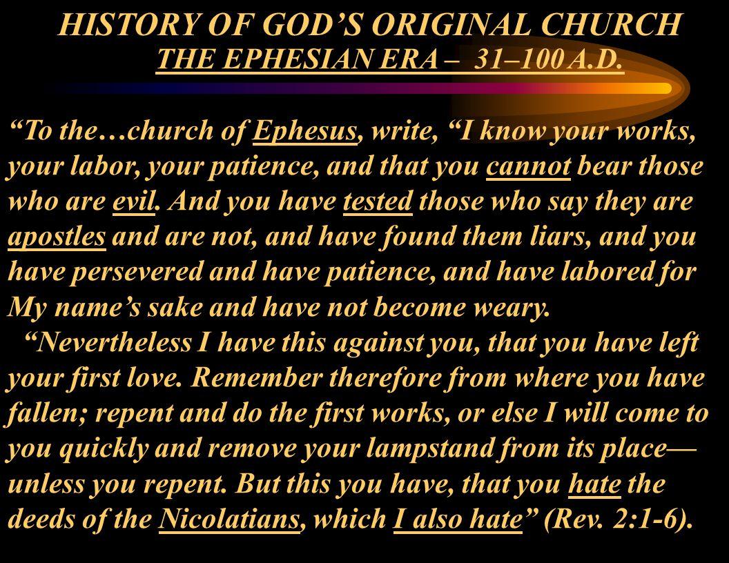 THE EPHESIAN ERA – 31–100 A.D.