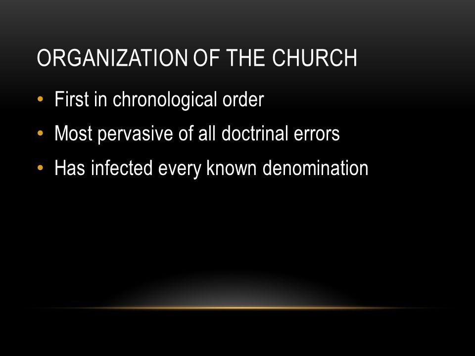 ORGANIZATION OF THE CHURCH Ephesians 4.11-12 Apostles Prophets Evangelists Pastors Teachers Ceased – Acts 1.15-26; 2 Cor.