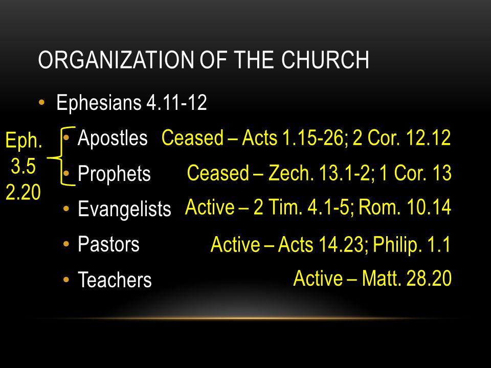 OFFICE OF PASTOR – THREE WORDS Pastors – Eph.