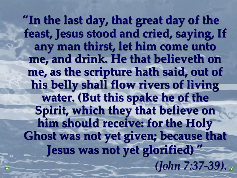 The Baptism of the Holy Spirit is promised to you!