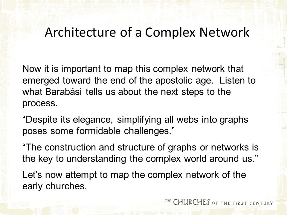 Now it is important to map this complex network that emerged toward the end of the apostolic age.