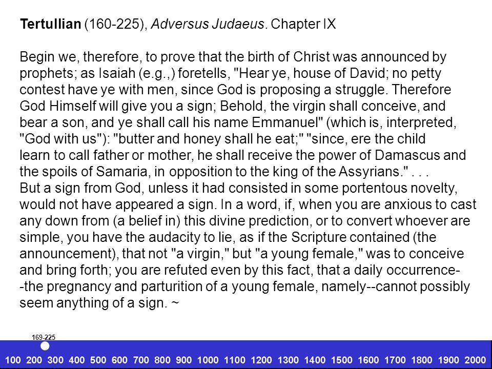 Tertullian (160-225), Adversus Judaeus.