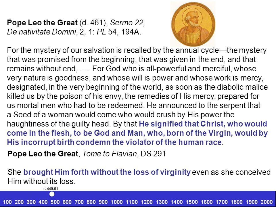 Pope Leo the Great (d. 461), Sermo 22, De nativitate Domini, 2, 1: PL 54, 194A.
