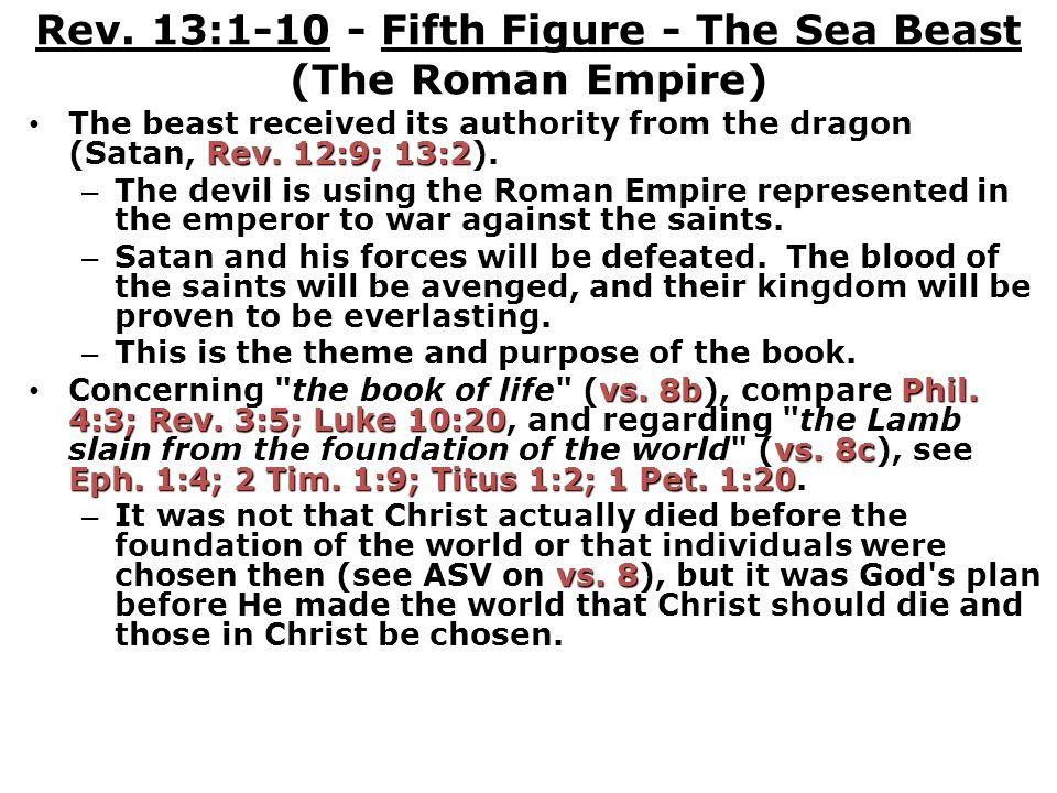 Rev.13:1-10 - Fifth Figure - The Sea Beast (The Roman Empire) Rev.