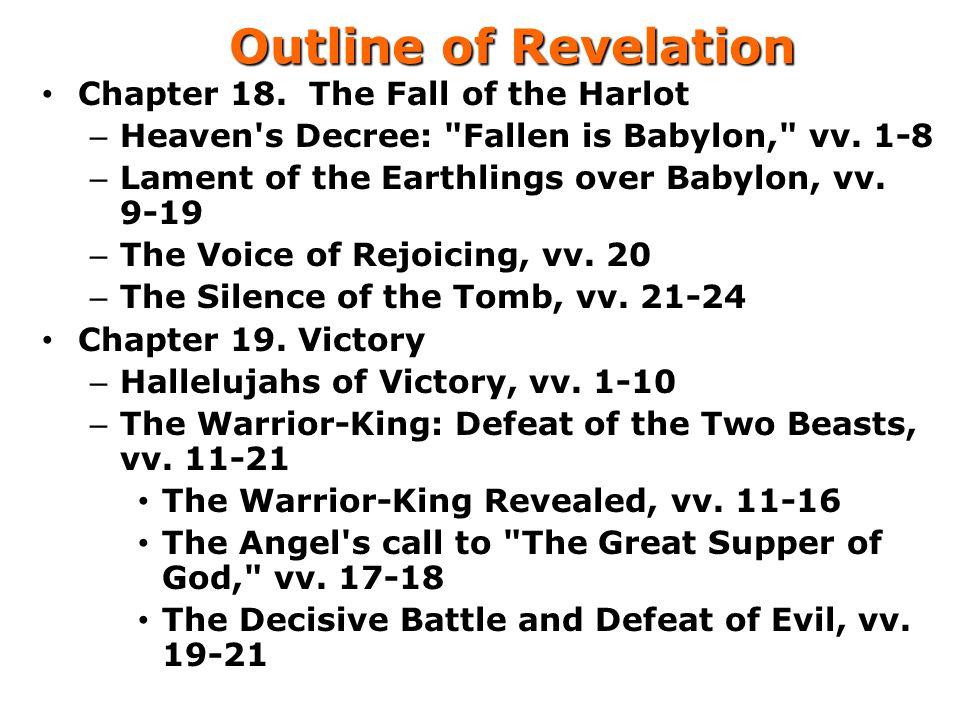 Outline of Revelation Chapter 18.