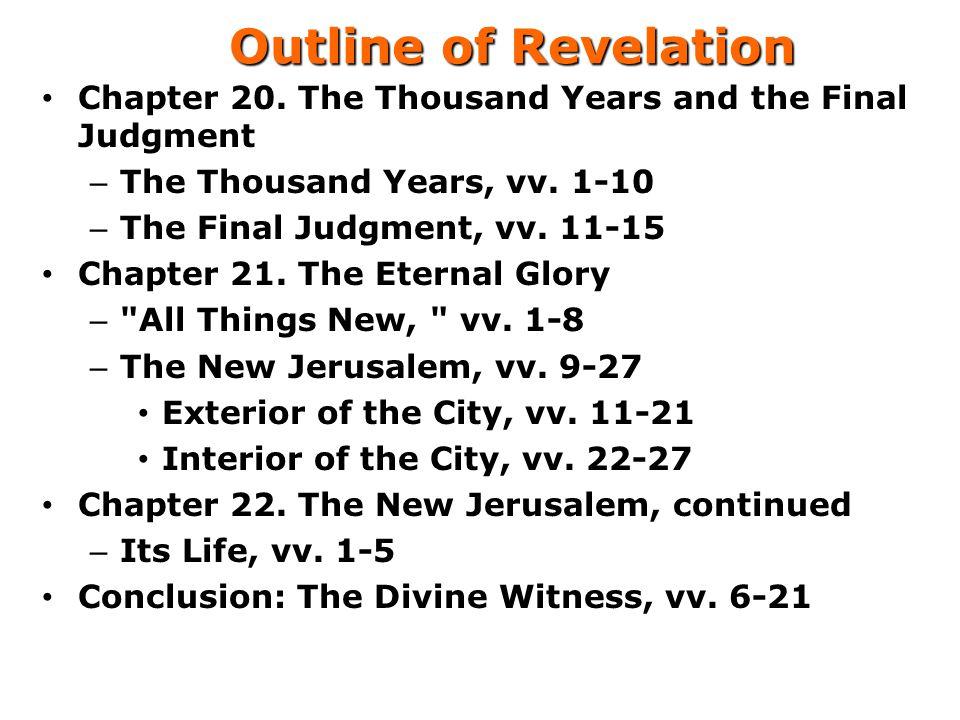 Outline of Revelation Chapter 20.