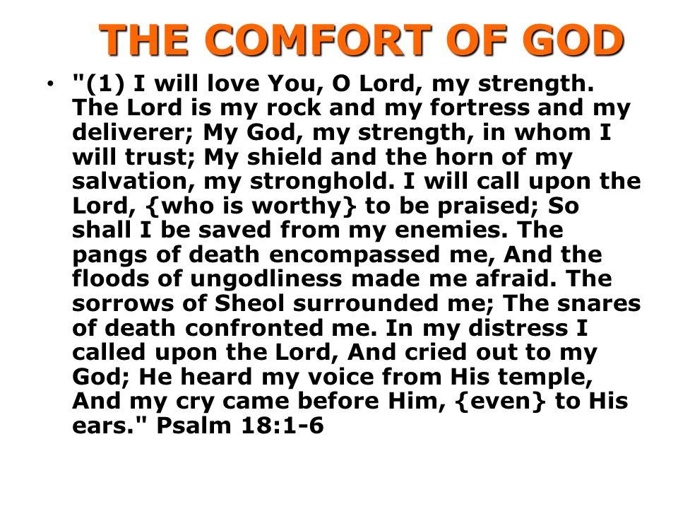 THE COMFORT OF GOD