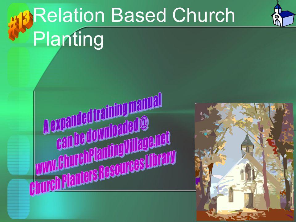 Relation Based Church Planting